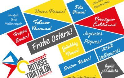 Das Team des Memmert Rothsee Triathlon wünscht frohe Ostern